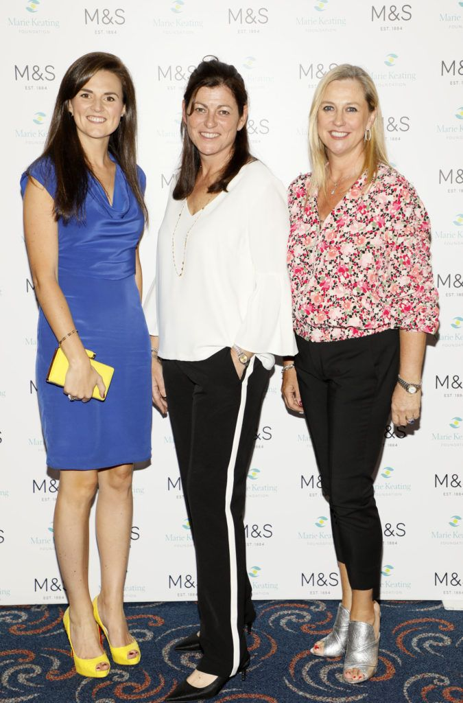 Anna Owens, Sharon Smurfit and Carol Barry at the 2018 Marks & Spencer Ireland Marie Keating Foundation Celebrity Golf Classic. Picture: Kieran Harnett