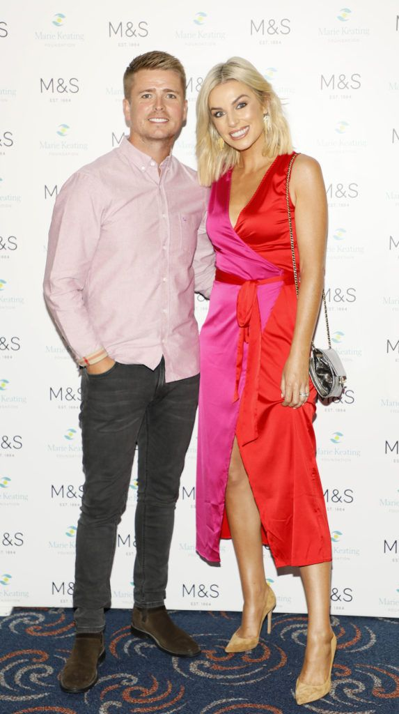 Brian Ormond and Pippa O'Connor at the 2018 Marks & Spencer Ireland Marie Keating Foundation Celebrity Golf Classic. Picture: Kieran Harnett