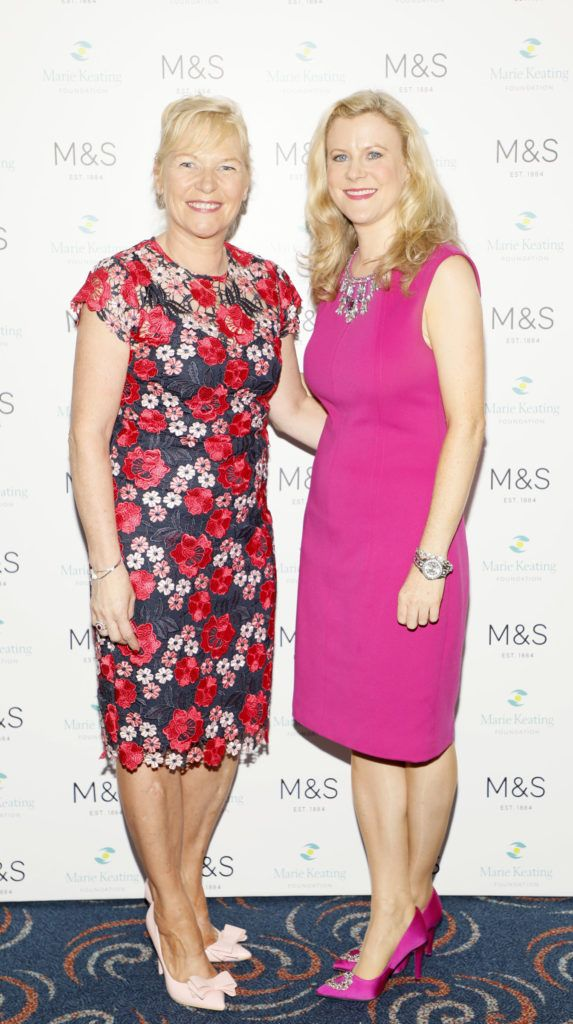 Linda Keating and Nuala Carey at the 2018 Marks & Spencer Ireland Marie Keating Foundation Celebrity Golf Classic. Picture: Kieran Harnett
