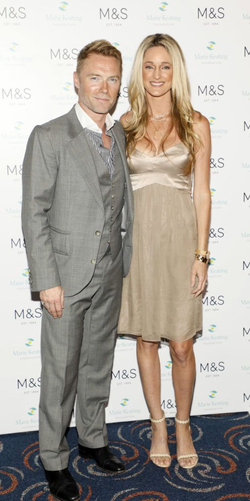 Ronan and Storm Keating at the 2018 Marks & Spencer Ireland Marie Keating Foundation Celebrity Golf Classic. Picture: Kieran Harnett
