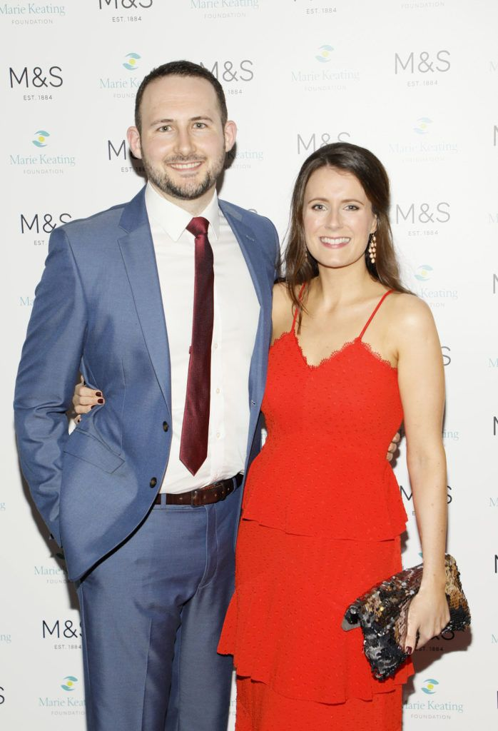 Nick Carpenter and Laura Daly at the 2018 Marks & Spencer Ireland Marie Keating Foundation Celebrity Golf Classic. Picture: Kieran Harnett