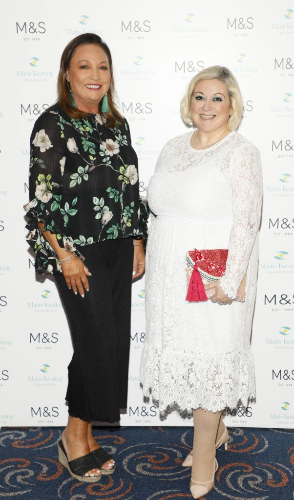 Norah Casey and Carmel Breheny at the 2018 Marks & Spencer Ireland Marie Keating Foundation Celebrity Golf Classic. Picture: Kieran Harnett