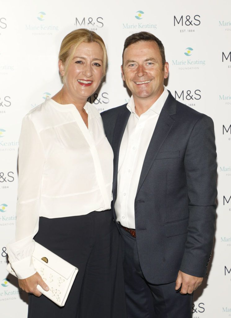 Val and Gary Keating at the 2018 Marks & Spencer Ireland Marie Keating Foundation Celebrity Golf Classic. Picture: Kieran Harnett