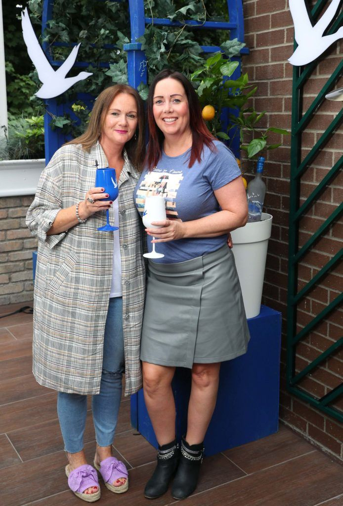 Maria Carton and Linda Maher pictured at the launch of OFF SCRIPT, a GREY GOOSE Production, at the Iveagh Garden Hotel. Picture: Marc O'Sullivan