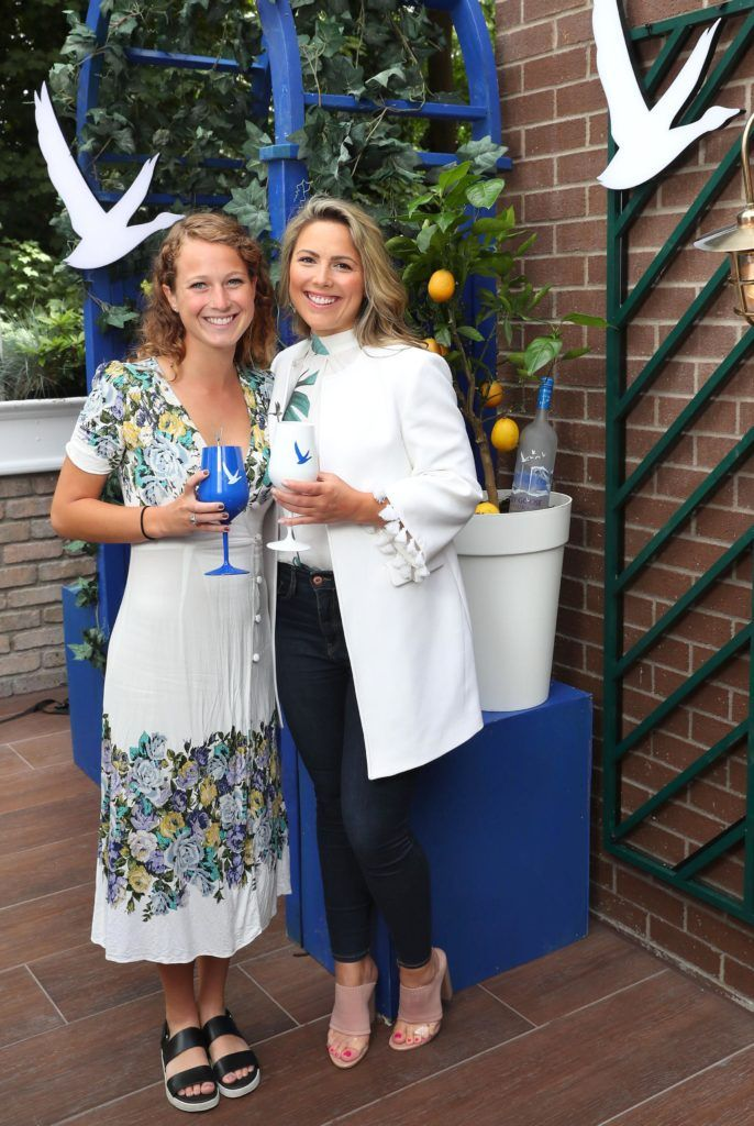 Kaylea Von Seggern and Chloe Townsend pictured at the launch of OFF SCRIPT, a GREY GOOSE Production, at the Iveagh Garden Hotel. Picture: Marc O'Sullivan