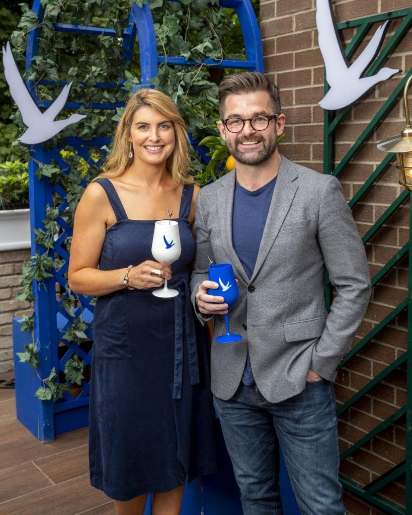 Leona Arkins and Mike Sheridan pictured at the launch of OFF SCRIPT, a GREY GOOSE Production, at the Iveagh Garden Hotel. Picture: Marc O'Sullivan
