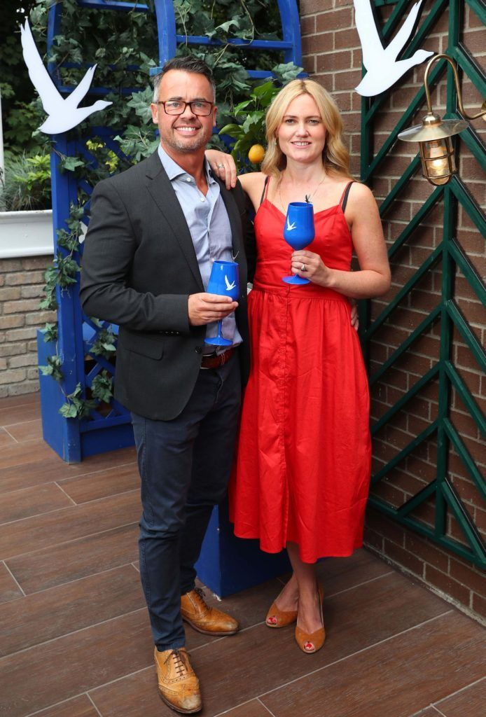 Karl Muldowney and Shona Murray pictured at the launch of OFF SCRIPT, a GREY GOOSE Production, at the Iveagh Garden Hotel. Picture: Marc O'Sullivan