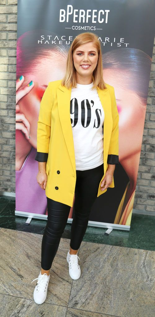 Lena Wrenn pictured at the launch of The BPerfect Stacey Marie Carnival Palette at McCabes Pharmacy in Dundrum Town Centre ,Dublin. Picture: Aishling Conway