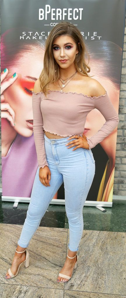 Molly Roberts pictured at the launch of The BPerfect Stacey Marie Carnival Palette at McCabes Pharmacy in Dundrum Town Centre ,Dublin. Picture: Aishling Conway