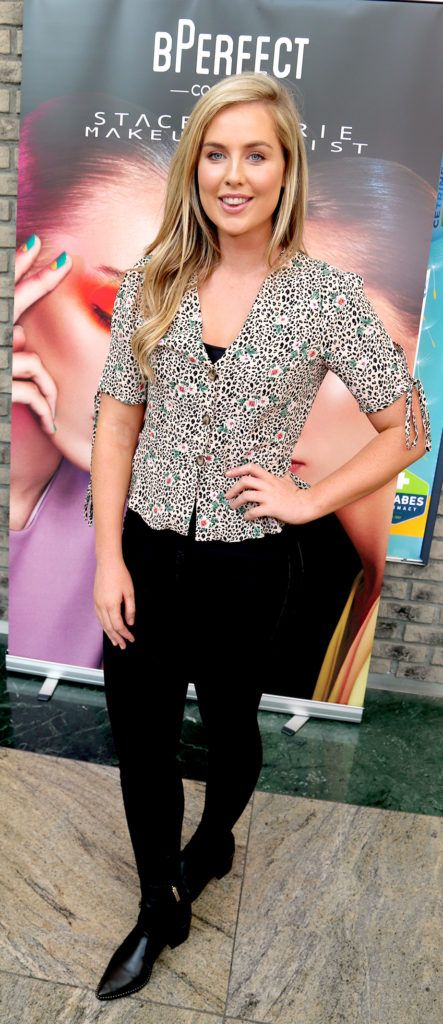 Aimee Connolly pictured at the launch of The BPerfect Stacey Marie Carnival Palette at McCabes Pharmacy in Dundrum Town Centre ,Dublin. Picture: Aishling Conway