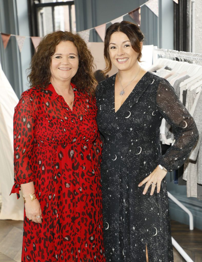 Sacha Paveda and Edelle Mellett pictured wearing Mint Velvet at the launch of Mint Velvet's AW18 collection at The Dean Hotel. Picture: Kieran Harnett