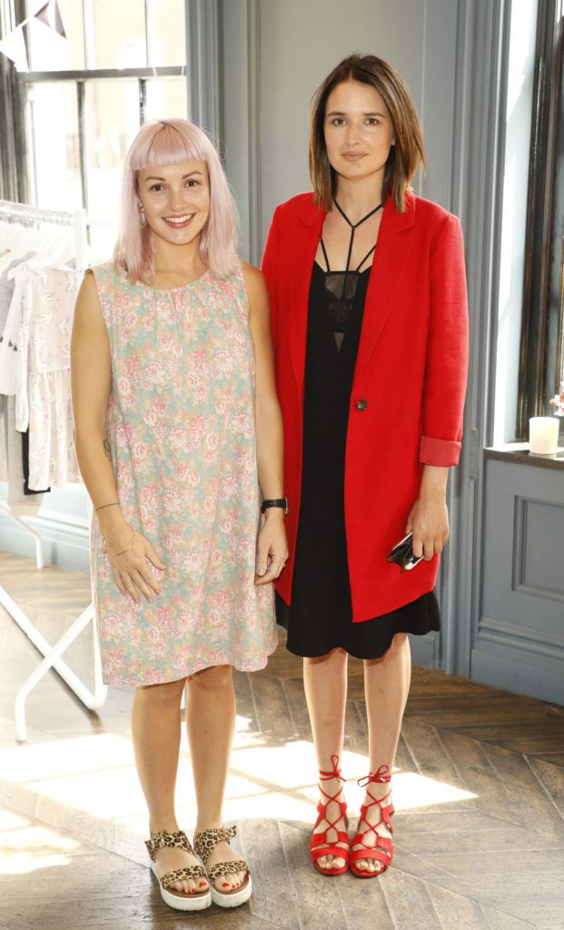 Sara Leamy and Charleigh Bailey at the launch of Mint Velvet's AW18 collection at The Dean Hotel. Picture: Kieran Harnett