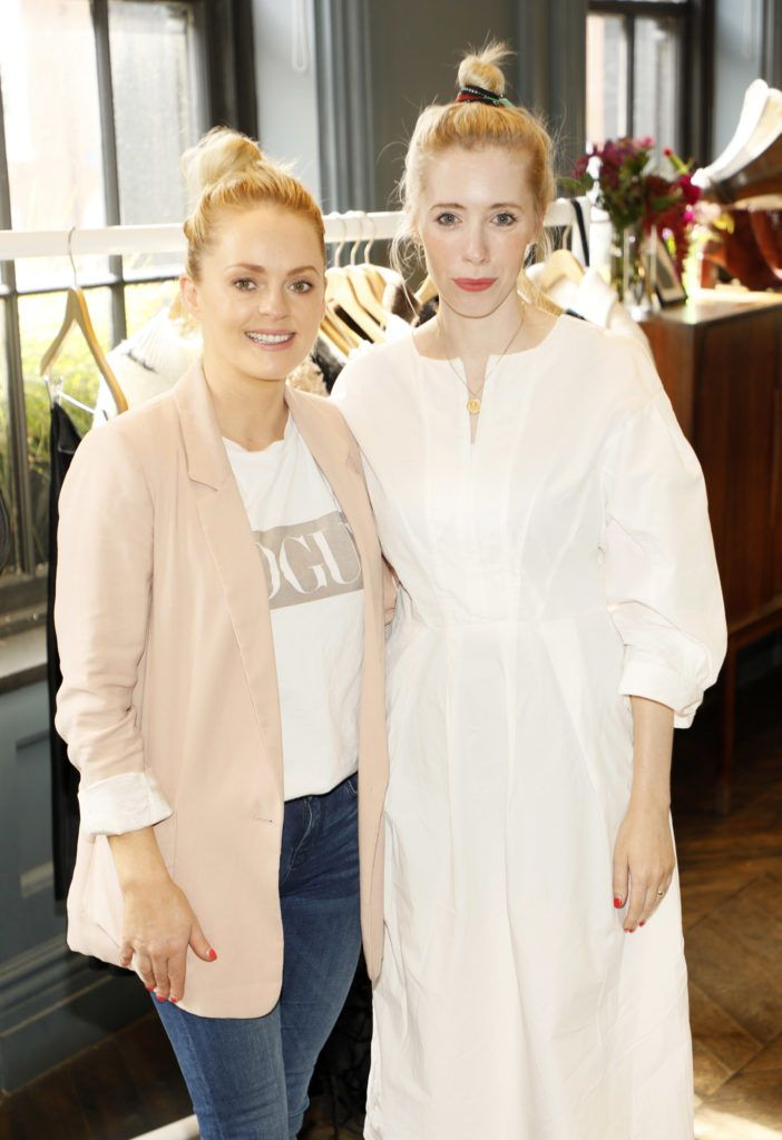 Niamh Ryan and Sarah O'Hegarty at the launch of Mint Velvet's AW18 collection at The Dean Hotel. Picture: Kieran Harnett