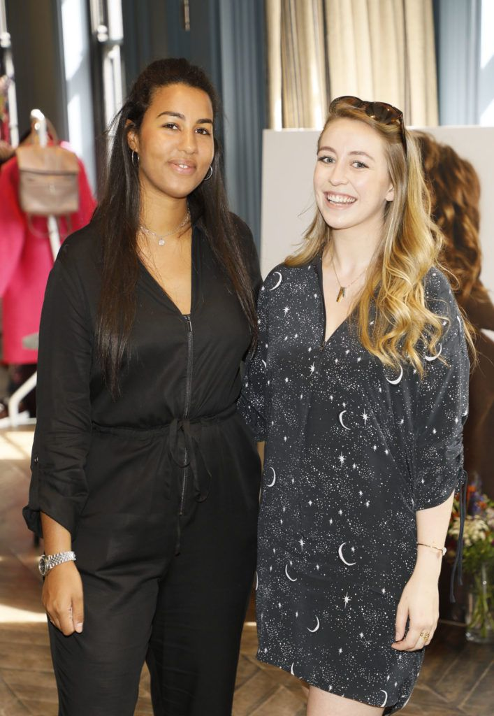 Yasu Pola Samuels and Klara Heron pictured wearing Mint Velvet at the launch of Mint Velvet's AW18 collection at The Dean Hotel. Picture: Kieran Harnett