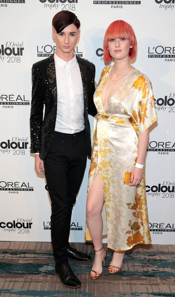 Shane Franklin and Jennifer Mongey  pictured at the L'Oréal Colour Trophy Grand Final 2018 at the Clayton Hotel, Dublin. Picture: Andres Poveda