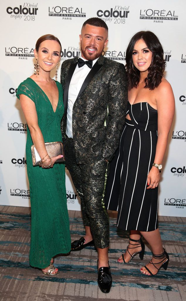 Gillian Lennon,Gary Coffey and Suzy Breen pictured at the L'Oréal Colour Trophy Grand Final 2018 at the Clayton Hotel, Dublin. Picture: Andres Poveda