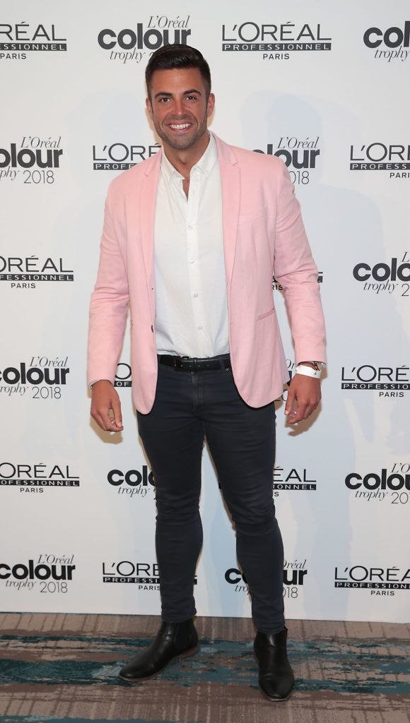 Karl Bowe pictured at the L'Oréal Colour Trophy Grand Final 2018 at the Clayton Hotel, Dublin. Picture: Andres Poveda
