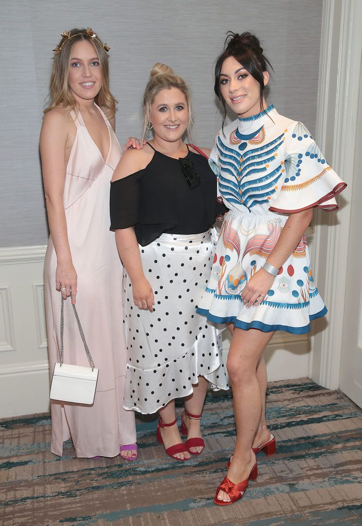 Danniella Lyons,Lisa Roe and Erica Kidd pictured at the L'Oréal Colour Trophy Grand Final 2018 at the Clayton Hotel, Dublin. Picture: Andres Poveda