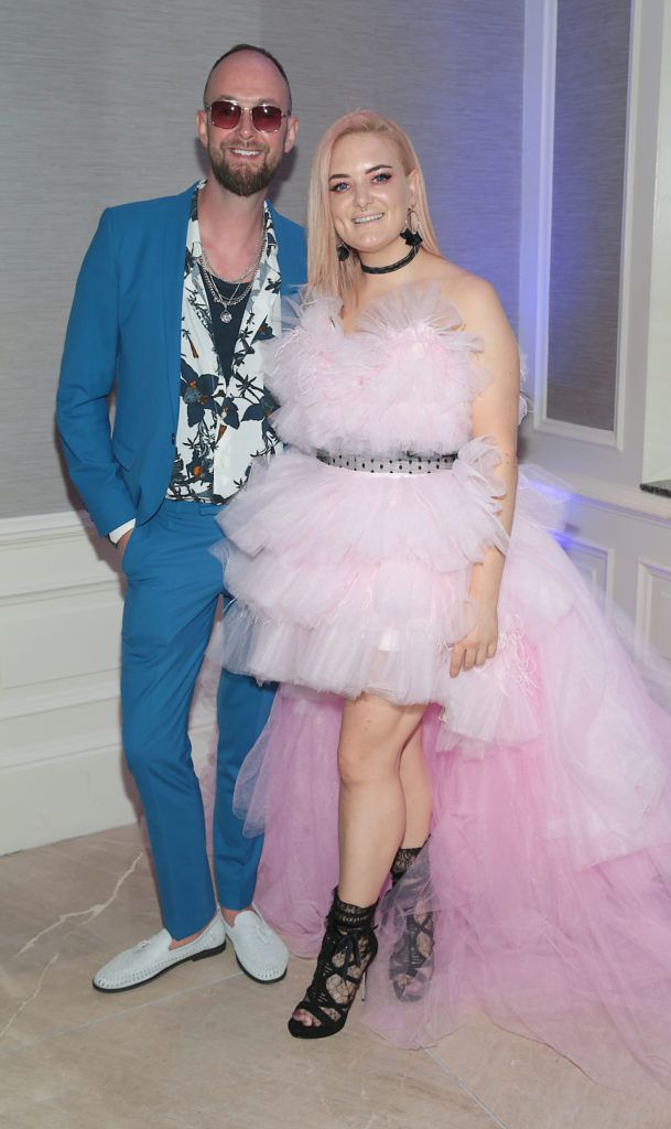 Christian Shannon and Laura Reid  pictured at the L'Oréal Colour Trophy Grand Final 2018 at the Clayton Hotel, Dublin. Picture: Andres Poveda