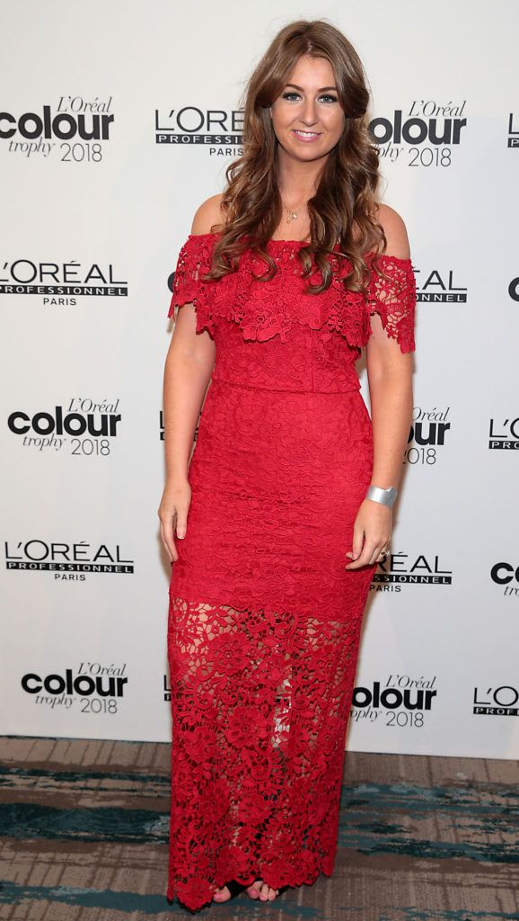 Leonie Flynn pictured at the L'Oréal Colour Trophy Grand Final 2018 at the Clayton Hotel, Dublin. Picture: Andres Poveda