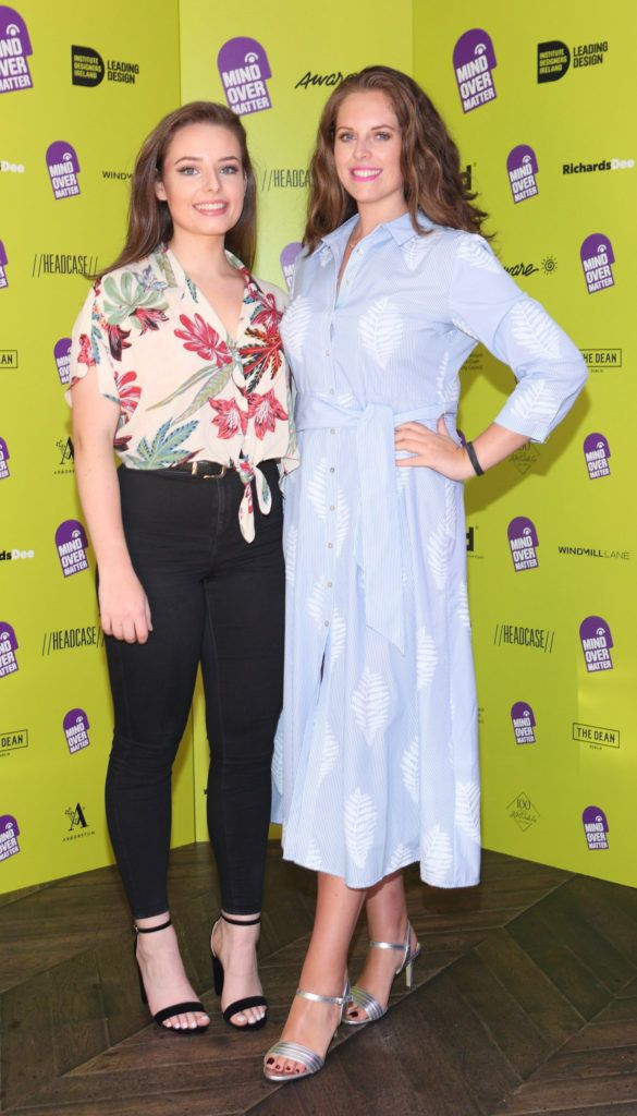 Anna O Farrell and Emma O Farrell at the Institute of Designers Ireland Mind Over Matter 2018 launch in the Dean Hotel Dublin. Picture:  Brian McEvoy