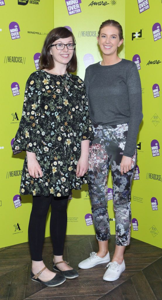 Lauren Day and Anne Moloney at the Institute of Designers Ireland Mind Over Matter 2018 launch in the Dean Hotel Dublin. Picture:  Brian McEvoy