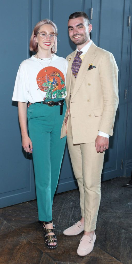 Niamh O'Donoghue and Jake McCabe at the Institute of Designers Ireland Mind Over Matter 2018 launch in the Dean Hotel Dublin. Picture:  Brian McEvoy