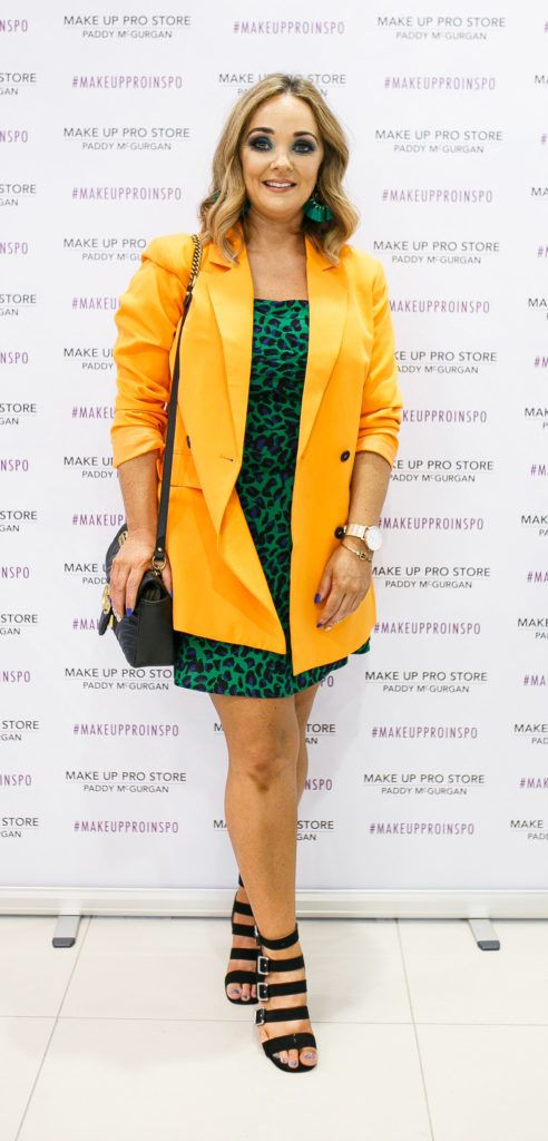 Arlene Gill at the opening of the newly relocated Make Up Pro Store in Derry Picture: Brendan Gallagher