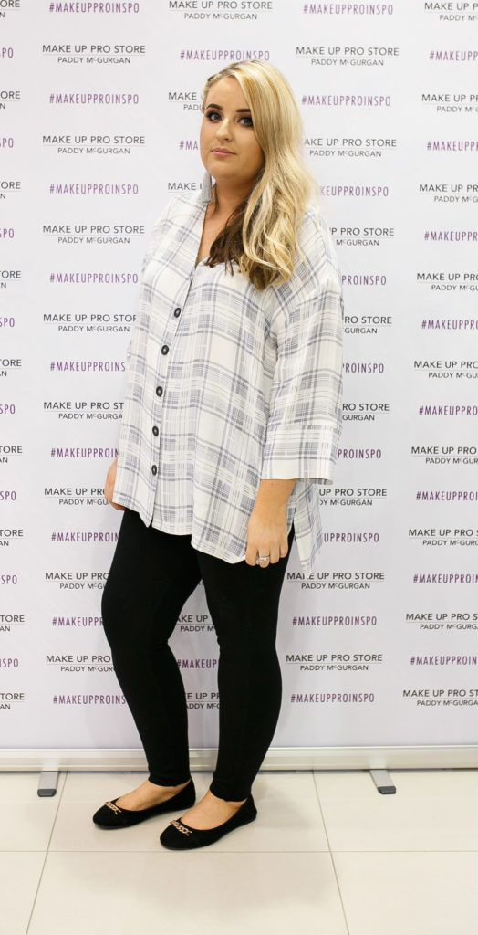 Grainne McCafferty at the opening of the newly relocated Make Up Pro Store in Derry Picture: Brendan Gallagher