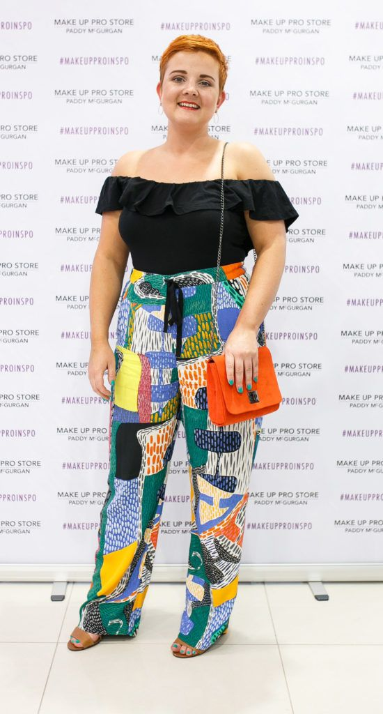 Lauren Crabbe at the opening of the newly relocated Make Up Pro Store in Derry Picture: Brendan Gallagher