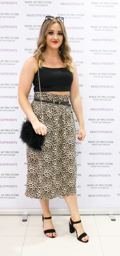 Loise Boyd at the opening of the newly relocated Make Up Pro Store in Derry Picture: Brendan Gallagher