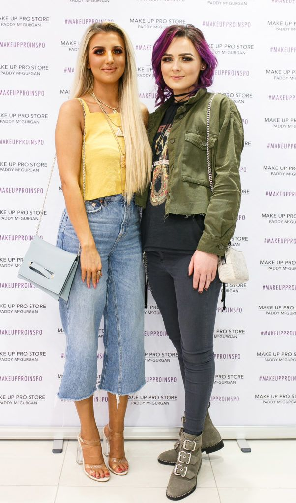 Ciara McKeown and Colleen Doherty at the opening of the newly relocated Make Up Pro Store in Derry Picture: Brendan Gallagher