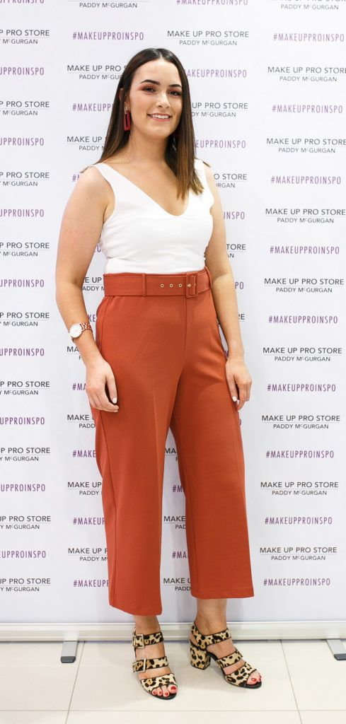 Kelsey Brennan at the opening of the newly relocated Make Up Pro Store in Derry Picture: Brendan Gallagher