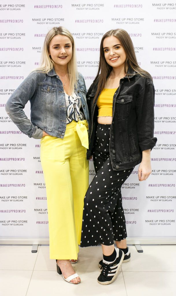 Shan McQuillan and Hannah Chambers at the opening of the newly relocated Make Up Pro Store in Derry Picture: Brendan Gallagher