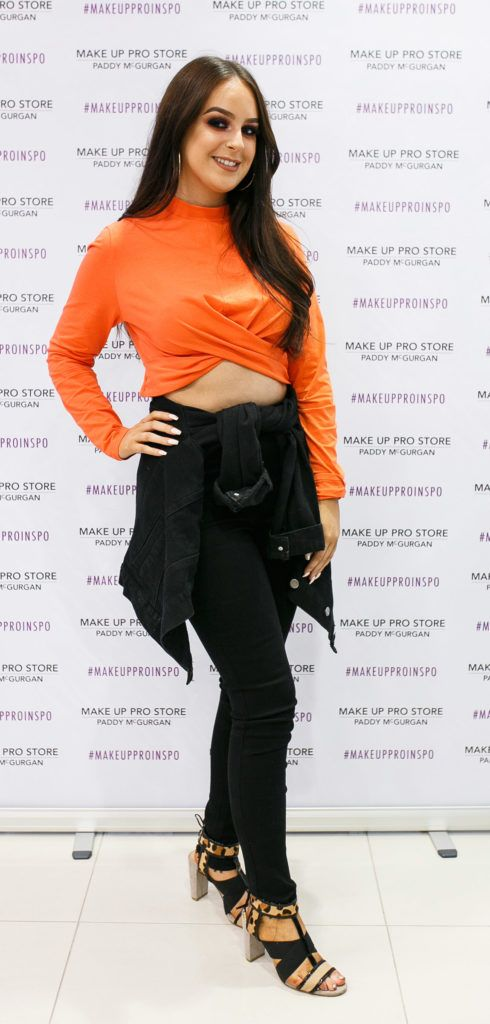 Edel Nealis at the opening of the newly relocated Make Up Pro Store in Derry Picture: Brendan Gallagher