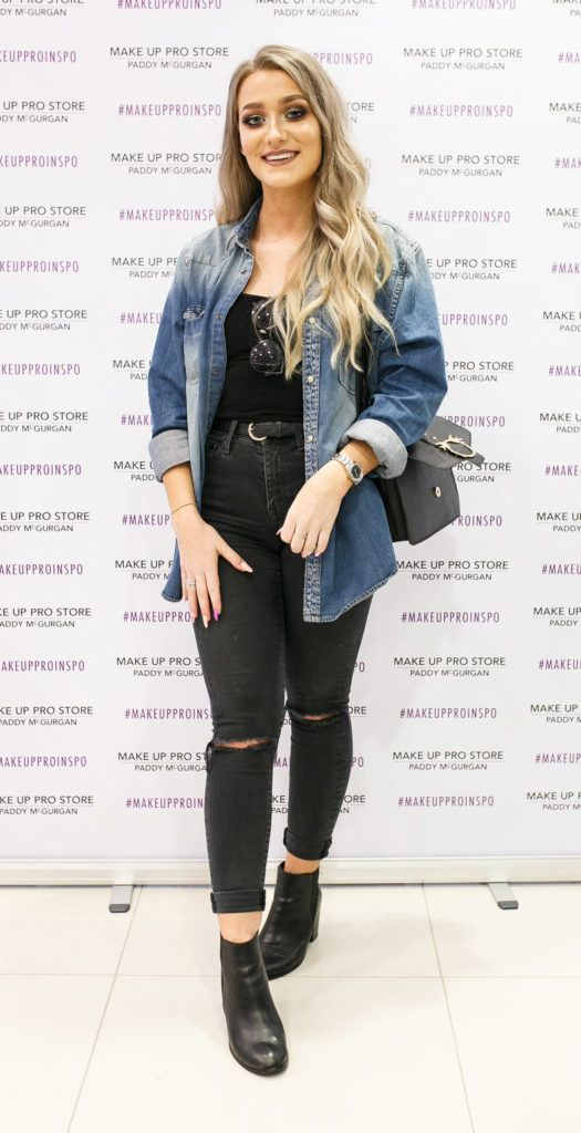 Alanna Gormley at the opening of the newly relocated Make Up Pro Store in Derry Picture: Brendan Gallagher