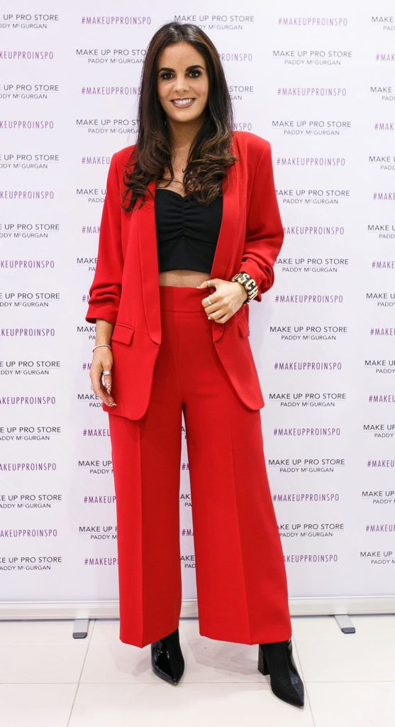 Nicola McLaughlin at the opening of the newly relocated Make Up Pro Store in Derry Picture: Brendan Gallagher