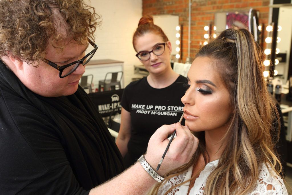 Paddy McGurgan with Love Island beauty Jessica Shears at the opening of the newly relocated Make Up Pro Store in Derry Picture: Brendan Gallagher