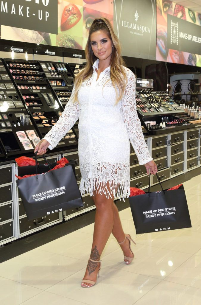 Love Island beauty Jessica Shears at the opening of the  newly relocated Make Up Pro Store in Derry , owned by Make Up Supremo Paddy McGurgan..  Pic Brian McEvoy Photography No Repro fee for one use