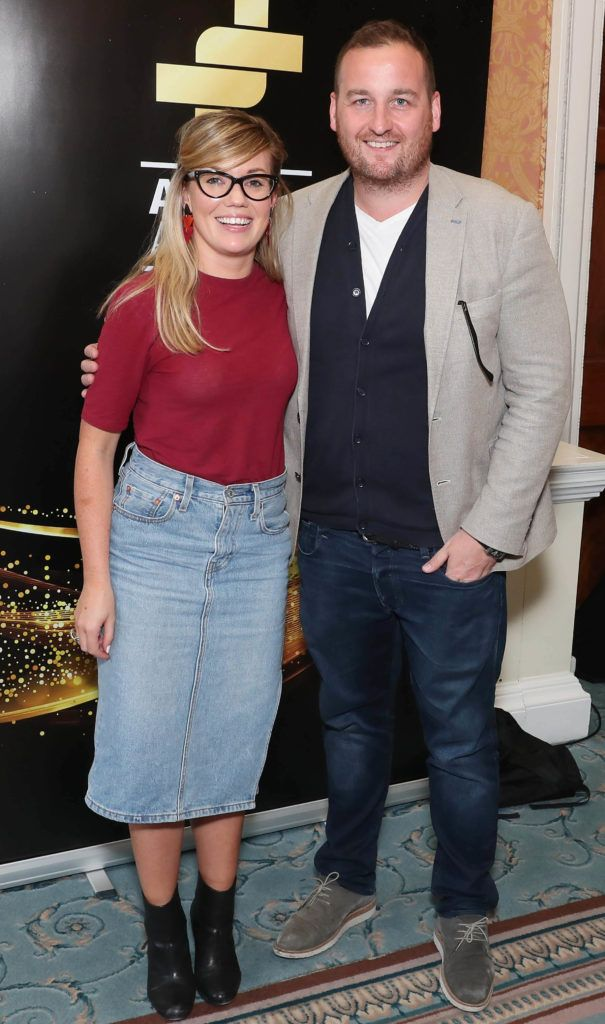 Katie Oslizlok and James Moore ROTHCO pictured as the shortlisted entries for the biennial IAPI ADFX Awards were unveiled at an exclusive event in The Shelbourne Hotel. Picture: Marc O'Sullivan
