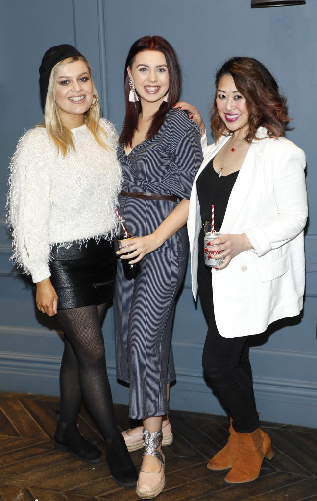 Christine Donaldson, Kelly Meleady and Judy Wong at Diet Coke's Because I Can Dancing with Maia and Robert event. Photo Kieran Harnett