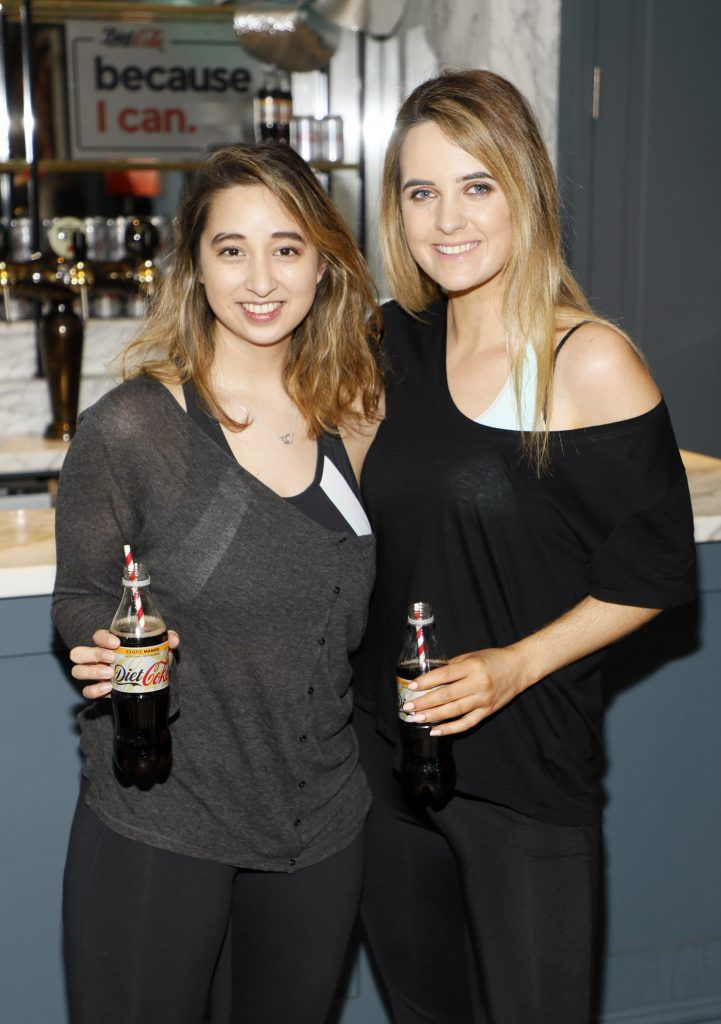 Narina Plunkett and Lorna Duffy at Diet Coke's Because I Can Dancing with Maia and Robert event. Photo Kieran Harnett