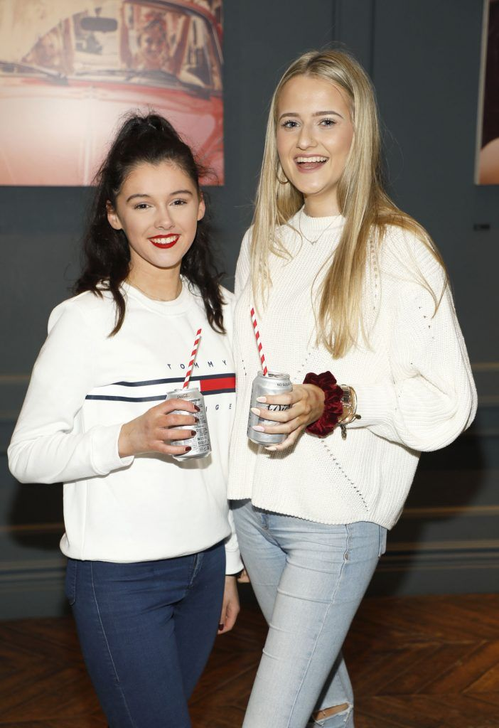 Emer Keogh and Leah Binley at Diet Coke's Because I Can Dancing with Maia and Robert event. Photo Kieran Harnett