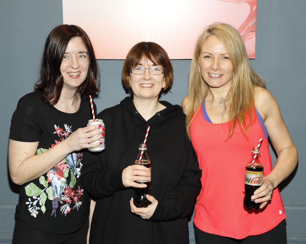 Jackie Lynam, Barbara Clarke and Elaine Cherry at Diet Coke's Because I Can Dancing with Maia and Robert event. Photo Kieran Harnett