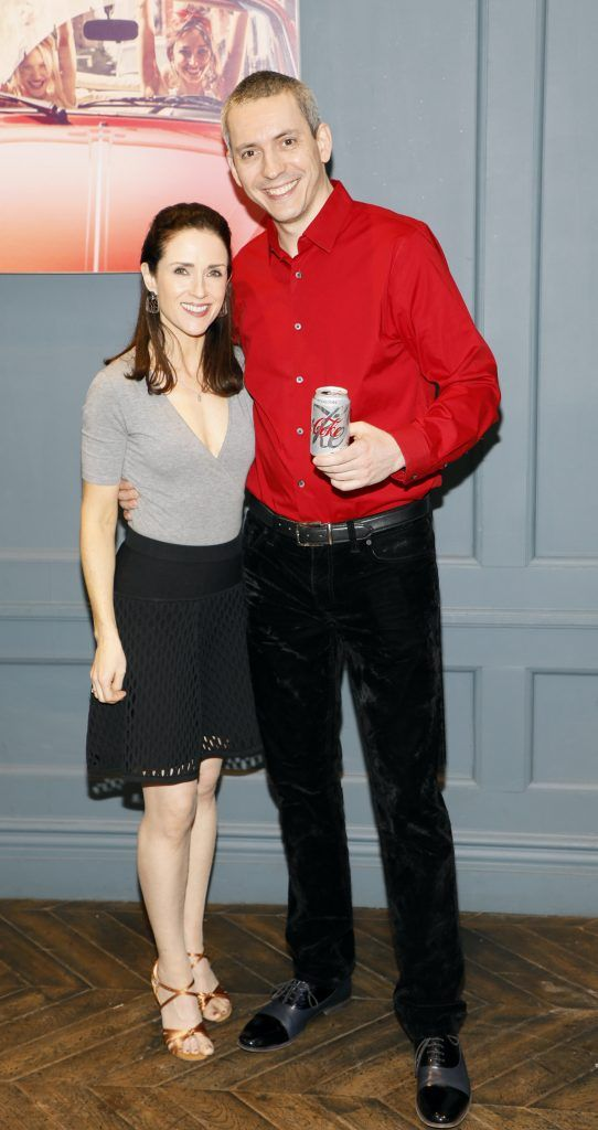 Maia Dunphy and Petre Șandru at Diet Coke's Because I Can Dancing with Maia and Robert event. Photo Kieran Harnett