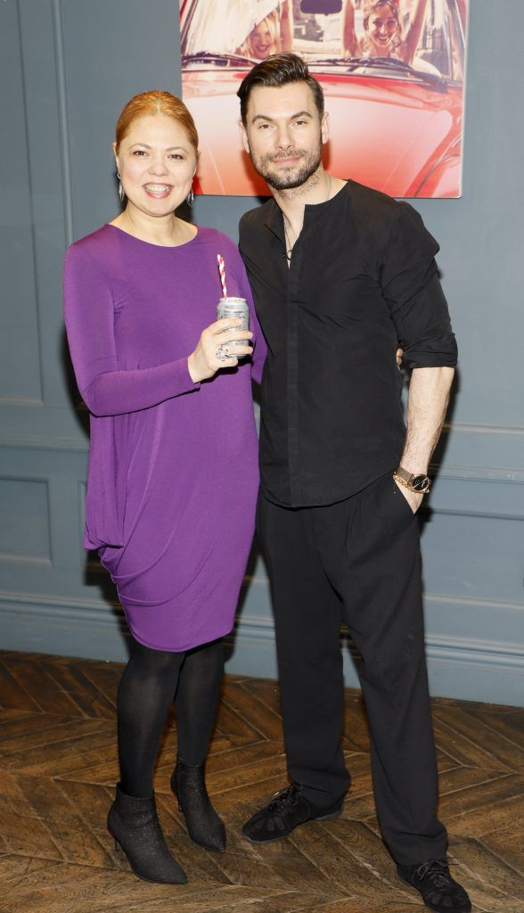 Robert Rowinski and Corina Șandru at Diet Coke's Because I Can Dancing with Maia and Robert event. Photo Kieran Harnett