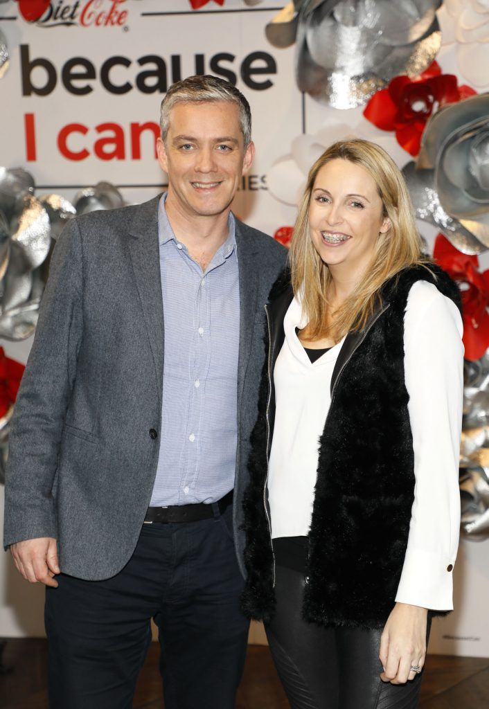 Ronan Farren and Rachel Long at Diet Coke's Because I Can Dancing with Maia and Robert event. Photo Kieran Harnett