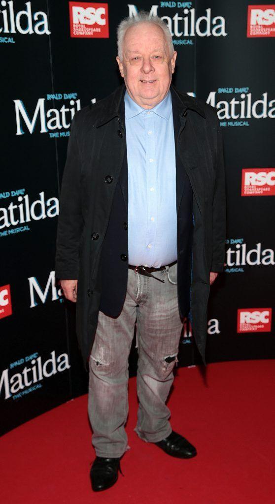 Jim Sheridan at the opening night of the musical Matilda at The Bord Gais Energy Theatre, Dublin. Photo: Brian McEvoy