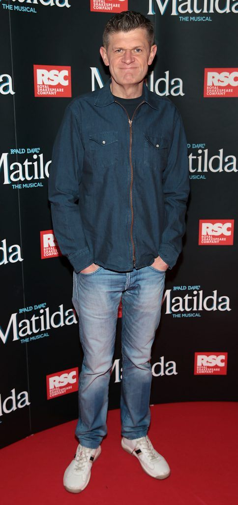 Brendan O Connor at the opening night of the musical Matilda at The Bord Gais Energy Theatre, Dublin. Photo: Brian McEvoy