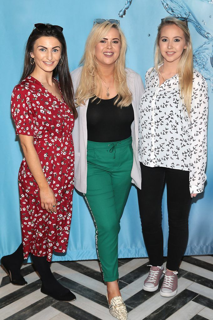 Fionnuala Moran, Ali Ryan and Kendra Becker at Neutrogena's Mask Collection launch and Hydro Boost Showcase in Dublin's Iveagh Garden Hotel. Photo by Brian McEvoy